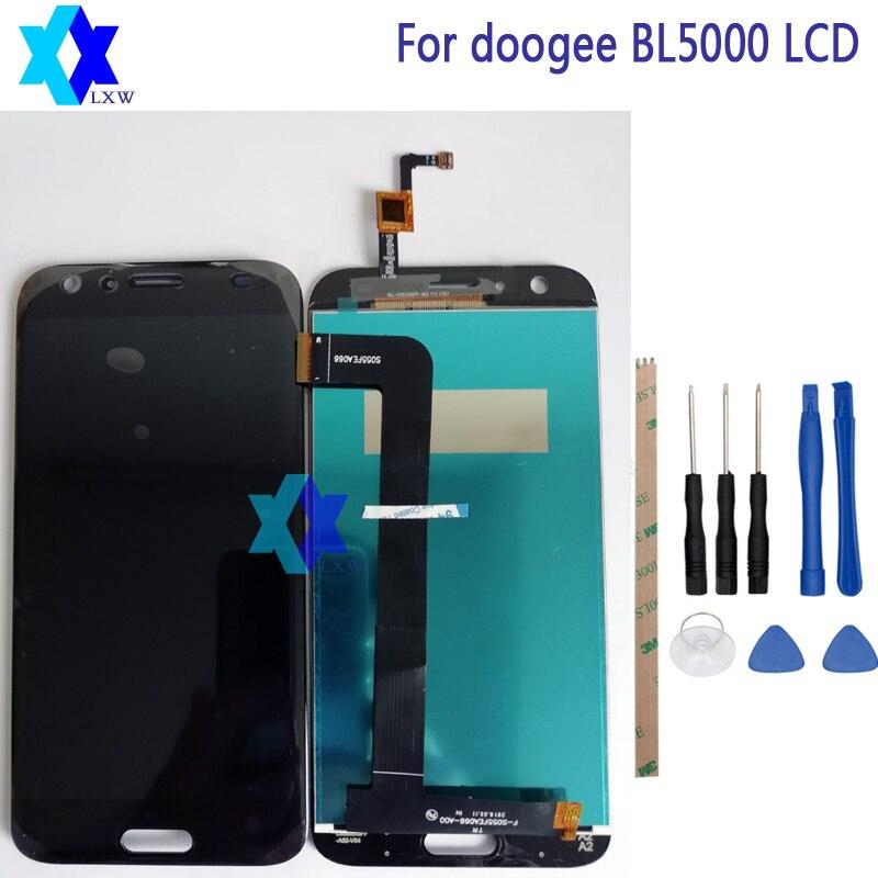 Para Doogee BL5000 pantalla LCD pantalla táctil digitizador Asamblea probado 5,5 pulgadas 1920x1080 p envío libre Stock