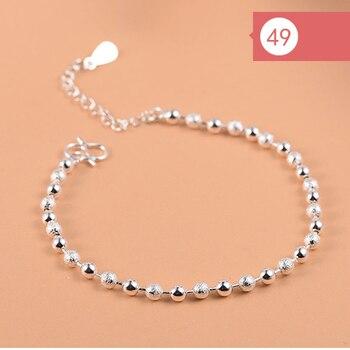 925 Sterling Silver Flower Star Charm Bracelet For Women Girls Luxury Brand Heart Cute Anklet Jewelry Pulseras Mujer 3