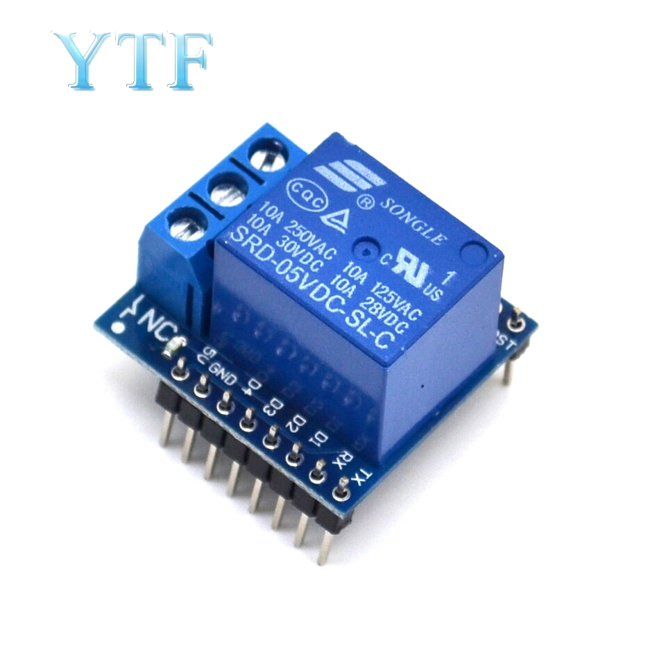 1 Channel  Relay Shield 5V 12V V2 Version 2 For WEMOS D1 Mini ESP8266 WiFi Module