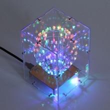 RGB LED Cubic Ball DIY Kit Colorful LED Light Cube Cubic Ball w/ Shell Creative Electronic Kit Remote Control DIY Night Lights