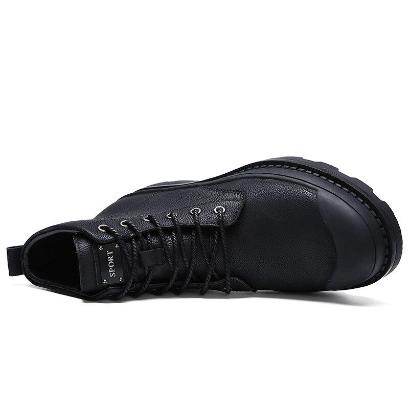 Nouveau Et Automne Hommes Without Black Fur D'hiver Travail Neige En Preuve Style Sécurité Bottes Fur Cheville Chaussures Véritable De L'eau With Qualité Cuir black fF04nrFwqx