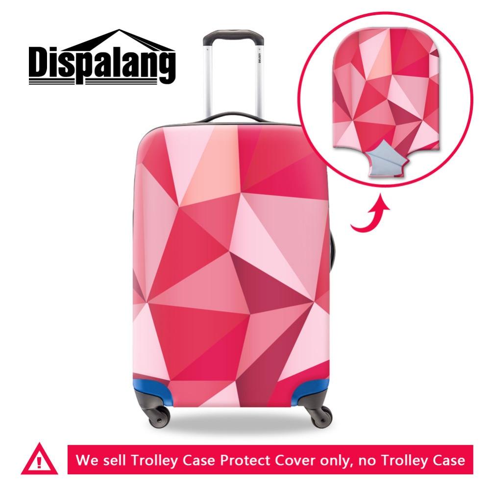 Upouusi kannettava elastinen matka matkatavaroiden suojukseen Diamond pinta 3D-tulostus Venytä suojaava matkalaukun kansi Käytä 18-30 tuuman koteloa