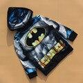 Бесплатная доставка 6 шт./лот 3 - 7 т мальчик бэтмен джемпер свитер осень бэтмен кардиган