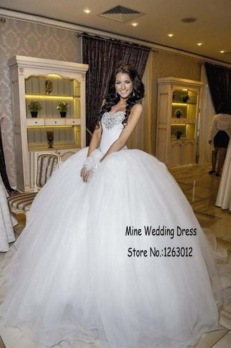 Aliexpress.com : Buy Sweetheart Neckline Ball Gowns Tulle ...