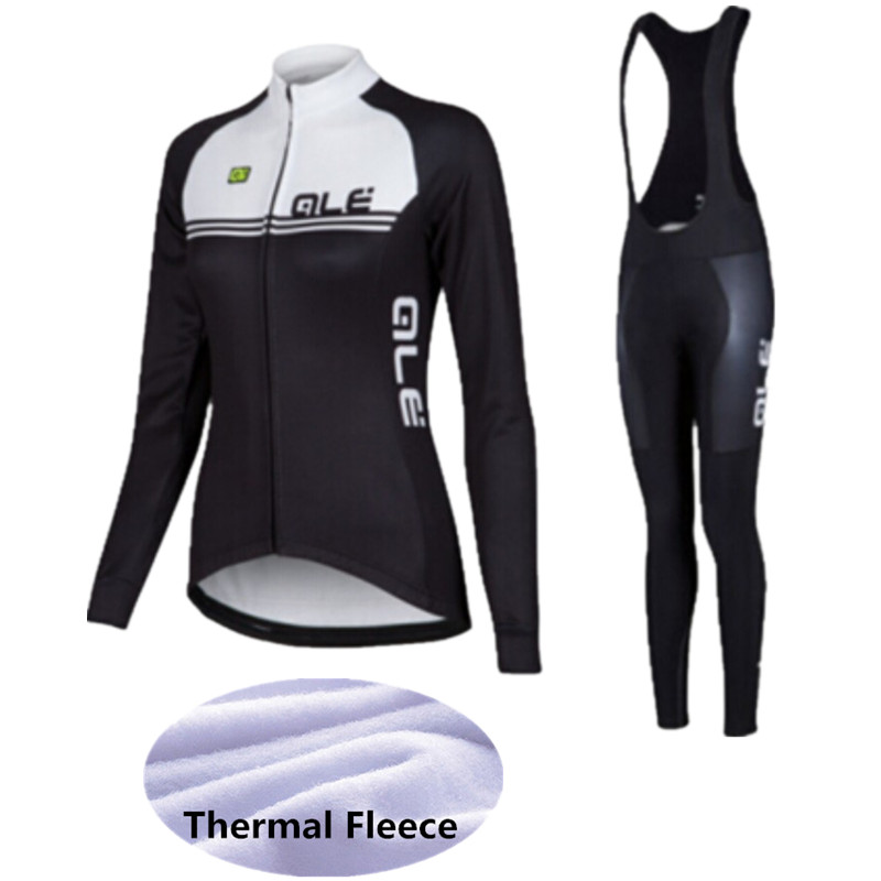 2017 Winter Thermal Fleece Long Sleeve ale Cycling Jersey Women Sportswear Mtb Bike clothes Bicycle / Cycling Clothing