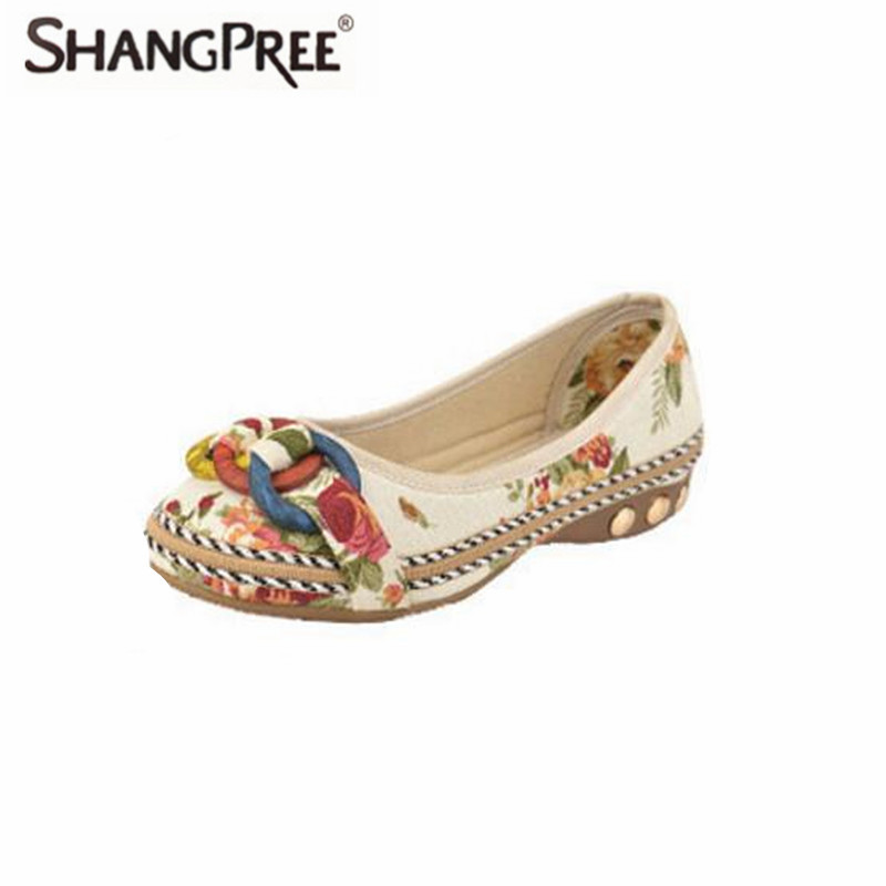 Large size 35-42 Summer fall Women Flats shoes Handmade Beaded Loafers Zapatos Mujer Retro Ethnic Embroidered Casual Shoes poadisfoo 2017 new ethnic women s shoes bohemian diamond slope with a large summer sandals zapatos mujer jxf 6662b