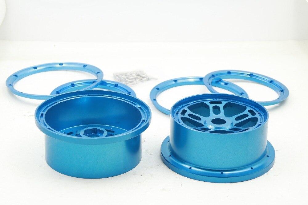 Сплав с ЧПУ колеса комплект обод для ступицы колеса с внешней и внутренней beadlock замок для 1/5 Losi 5ive T Rovan LT король мотор X2 2 шт./компл.