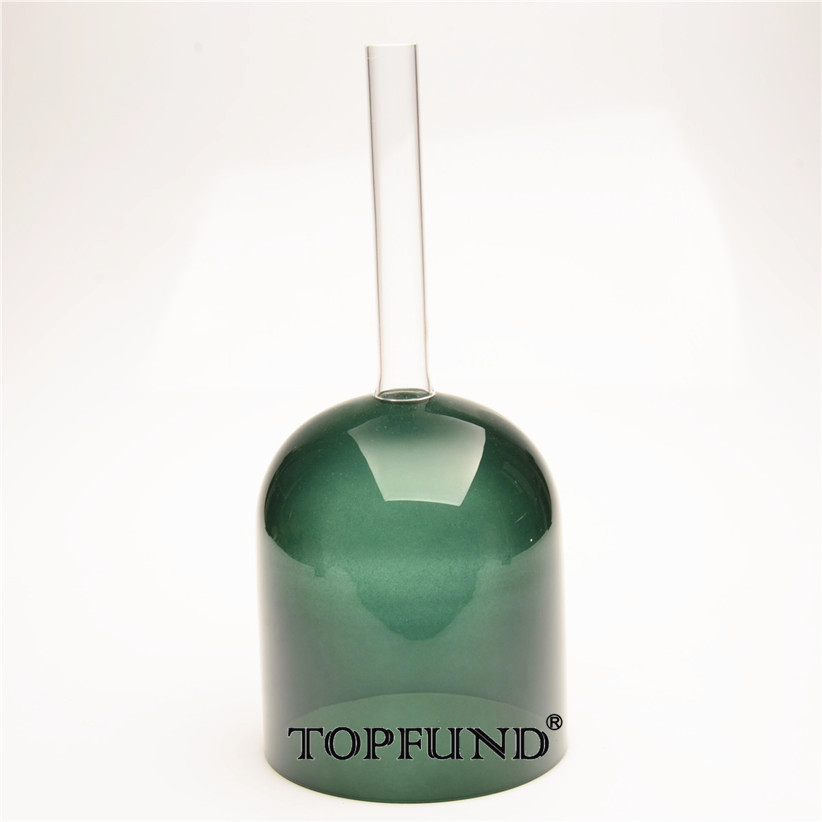 TOPFUND Hollow Handle Clear G#  Zeal  Chakra Green Color Crystal Singing Bowl 6 10 and 12 2pcs chakra white frosted quartz crystal singing bowl 432hz