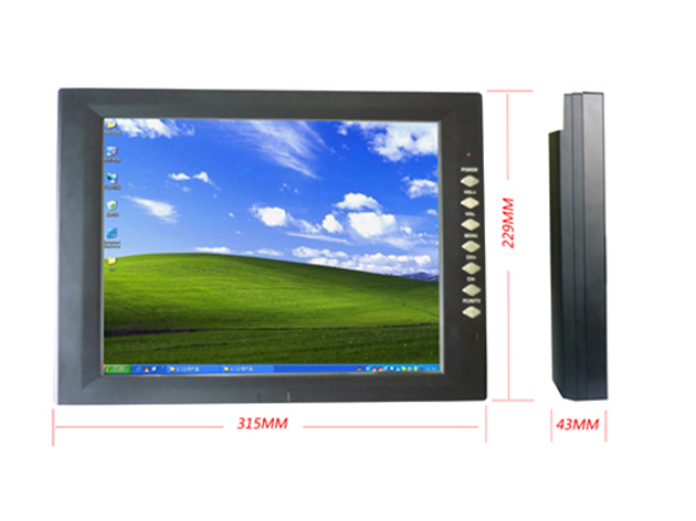 Factory Direct 12.1 inch Open Frame Industrial Monitor with 4-Wire Resistive touch screen with VGA input