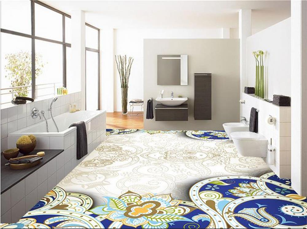 Custom Photo/Floor Wallpaper/3D Mural PVC Wall Paper/Abstract Design Of  Kitchen