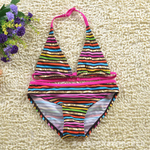 Action club Character high-quality Kid Swimming two-Pieces Baby Girls Bathing Suit Children  Summer Swimsuit stripe Swimwear