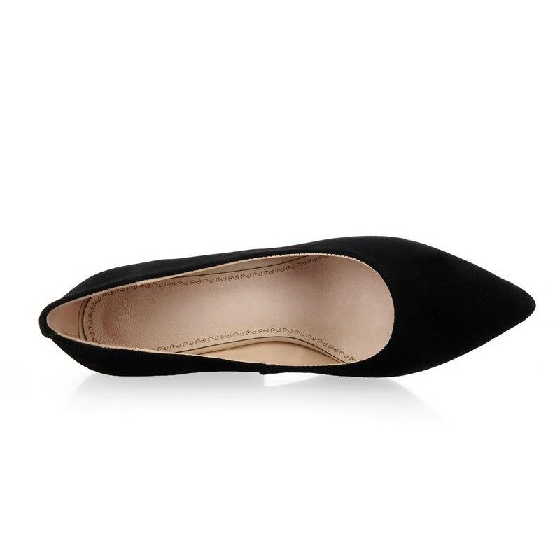 Mode Robe Pompes Nouveau Daim Bout Talon Pointu Paresseux Noir En Le Confort De Chaussures Carré Femme qSzpUMVG
