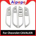 Автомобильный Стайлинг для Chevrolet Cavalier 2018 2019 декоративные аксессуары хромированный ABS Электрический стеклоподъемник с откидной крышкой