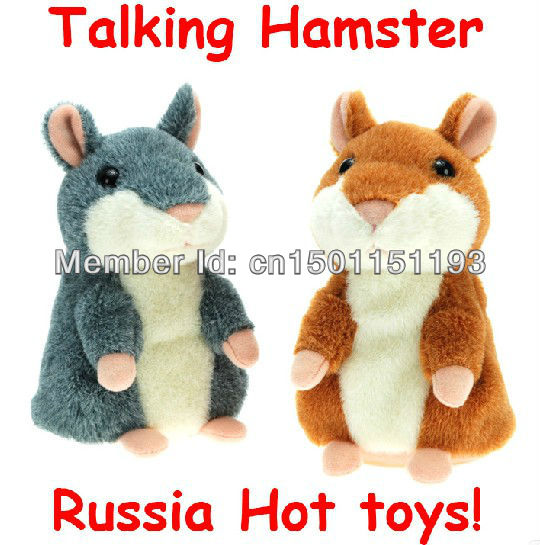Wholesale 7 pcs  Russian Video Version Early Learning Talking Woddy time Hamster Plush Toy Russia Hamsters for Kids