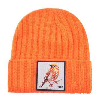 Hip Hop Skullies Beanie Men Women New Fashion Knitted Hats With Bird Patch Winter Warm Ski Cap Boys Girls Streetwear Kpop Bonnet 2