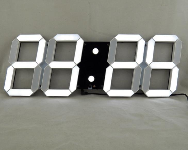 Top Noir créative de la télécommande grande LED numérique horloge  PK97