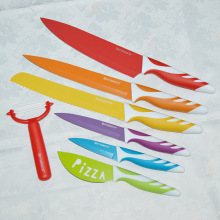 7 Pieces Non-stick Knife Set With Soft Handle kitchen knives home & garden