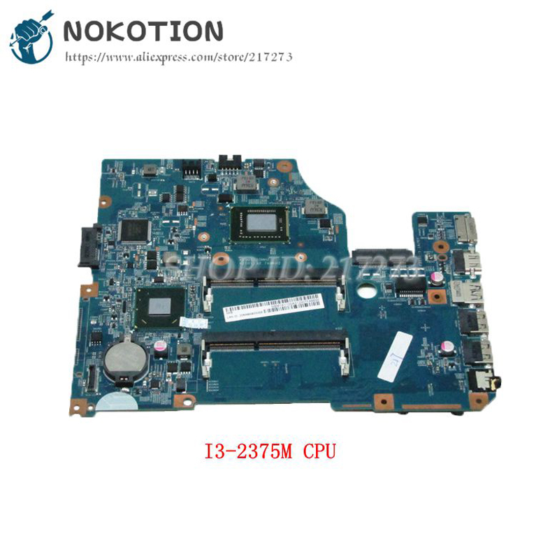 NOKOTION PC Motherboard For Acer asipre V5-531 MAIN BOARD 48.4VM02.011 NBM1K1100A System Board I3-2375M CPU nokotion 645386 001 laptop motherboard for hp dv7 6000 notebook pc system board main board ddr3