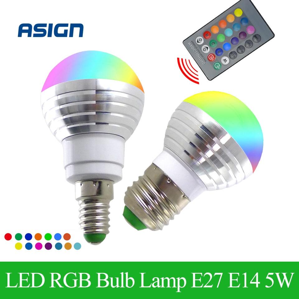 Newest RGB LED Bulb E27 E14 5W s