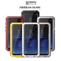 AKASO Lüks Doom Zırh Kir Şok Metal Alüminyum Cep Telefonu kılıfı Için Samsung S4 S5 S6 S6edge S7 S8 S8plus S7edge Not 8 vaka