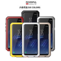 Akaso Роскошные doom Панцири грязь шок из металла Алюминий чехол для сотового телефона Samsung S4 S5 S6 S6Edge S7 S8 s8plus s7edge note 8 Case