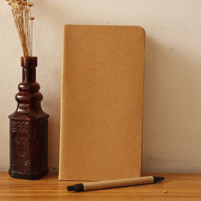 10 / partii Cowhide paberi sülearvuti tühi märkmiku raamat Vintage - Kaustikud ja kontoriraamatud - Foto 2