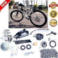 Silver 80cc 2 Stroke Petrol Gas Motor Engine Kit DIY Motorized Bicycle Bike