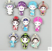 Quintessence of Peking Opera Q version fridge magnet