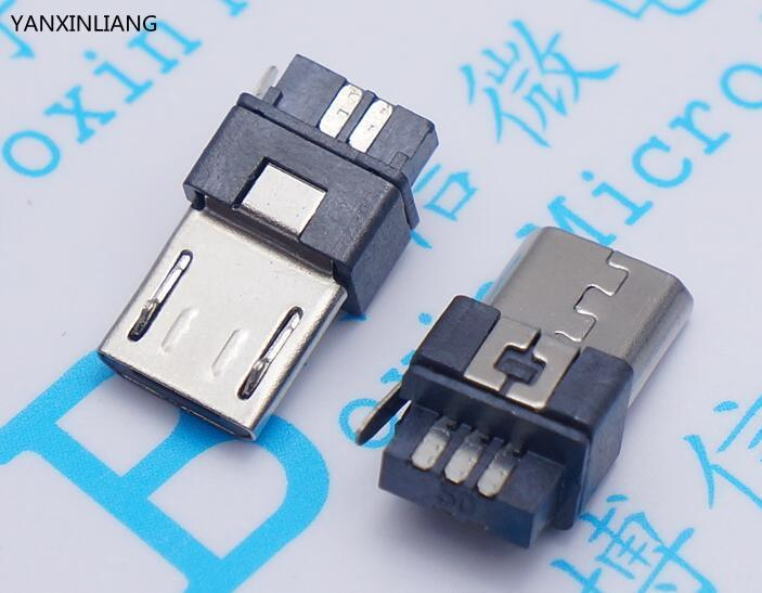 10Pcs Micro USB 5pin Male Plug Connector Welding Type For Tail Charging Mobile Phone High Quality Sell At A Loss