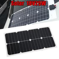25W 18V Flexible Boat Caravan Car Vehicle Auto Solar Energy Battery Charger Panel Board For Outdoor Activity Covenience