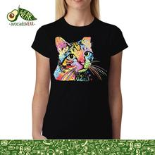 Dean Russo Cat Colourful Cubism Women T-shirt XS-3XL NewStreetwear Funny Print Clothing Hip-Tope Mans T-Shirt Tops Tees Hot