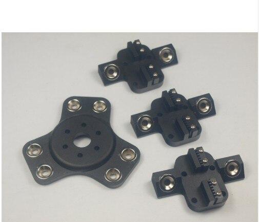 цена на Reprap Delta Kossel k800 metal magnetic effector+ carriage kit For DIY 3d printer aluminum black color anodized