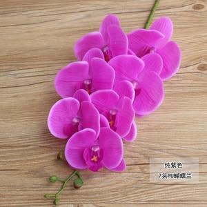 Image 4 - 1 סט גבוה כיתה סחלבים הסדר לטקס סיליקון אמיתי מגע גדול גודל יוקרה שולחן פרח בית מלון דקור אין אגרטל