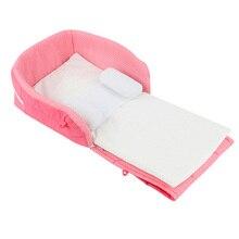Новорожденных Детская кроватка для путешествий колыбели детская кроватка безопасности портативная складная кровать Младенческая Люлька-качалка многофункциональная сумка для хранения для ребенка