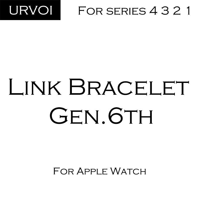 Banda URVOI para apple watch link pulsera serie 4 3 2 1 correa para iWatch banda ajustable de acero inoxidable de alta calidad gen.6th