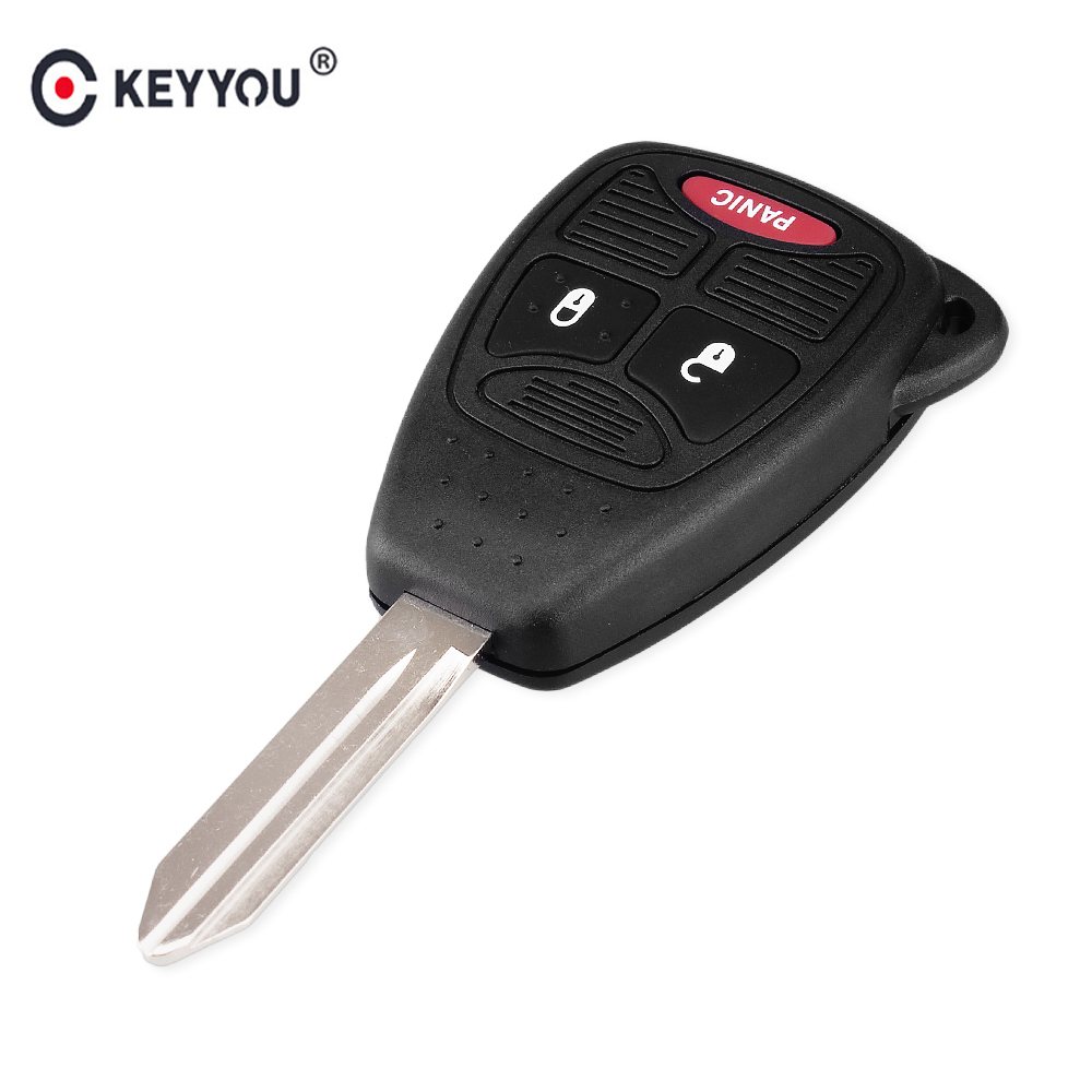 KEYYOU Remote Car Key Shell Cover For Chrysler 300 Dodge Caliber Jeep Patriot Pacifica Liberty 2+1 3 Buttons Fob Key CaseKEYYOU Remote Car Key Shell Cover For Chrysler 300 Dodge Caliber Jeep Patriot Pacifica Liberty 2+1 3 Buttons Fob Key Case