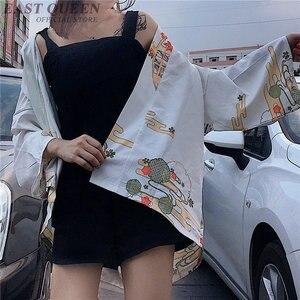 Image 5 - קימונו אישה 2019 יפני קימונו קרדיגן קוספליי חולצה חולצה לנשים יפני יאקאטה נשי קיץ חוף קימונו FF1127