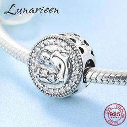 Настоящее сказки для принца и принцессы CZ бисера 925 пробы серебряные аксессуары подходят оригинальный браслет подвес Пандора ювелирных