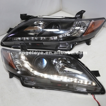 2007-2009 Year For Camry LED Head Lamp Black Color R8 Style Yellow Reflector SN