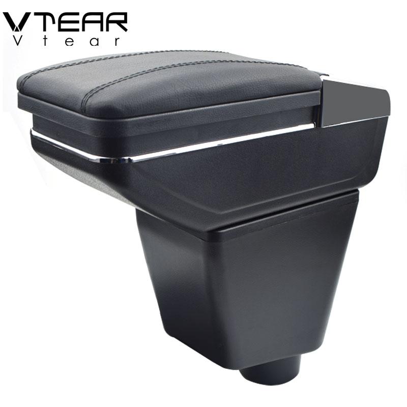 Vtear For Renault Kaptur Captur QM3 armrest box central Store content box cup holder interior car