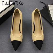 2018 Superstar Pointed Toe Pearl Pumps Mules Slingback High Heels Brand  Runway spell Color Wedding Party 75ede00d2b71