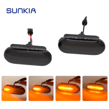 Luz led de posición lateral SUNKIA para Ford c-max/Fiesta MK6/Focus MK2/Fusion/Galaxy Fácil instalación luz LED de señal OEM