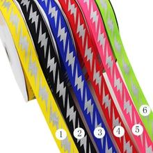 1 25mm Warning Reflective Ribbon Grosgrain Check Tape 10yard/lot