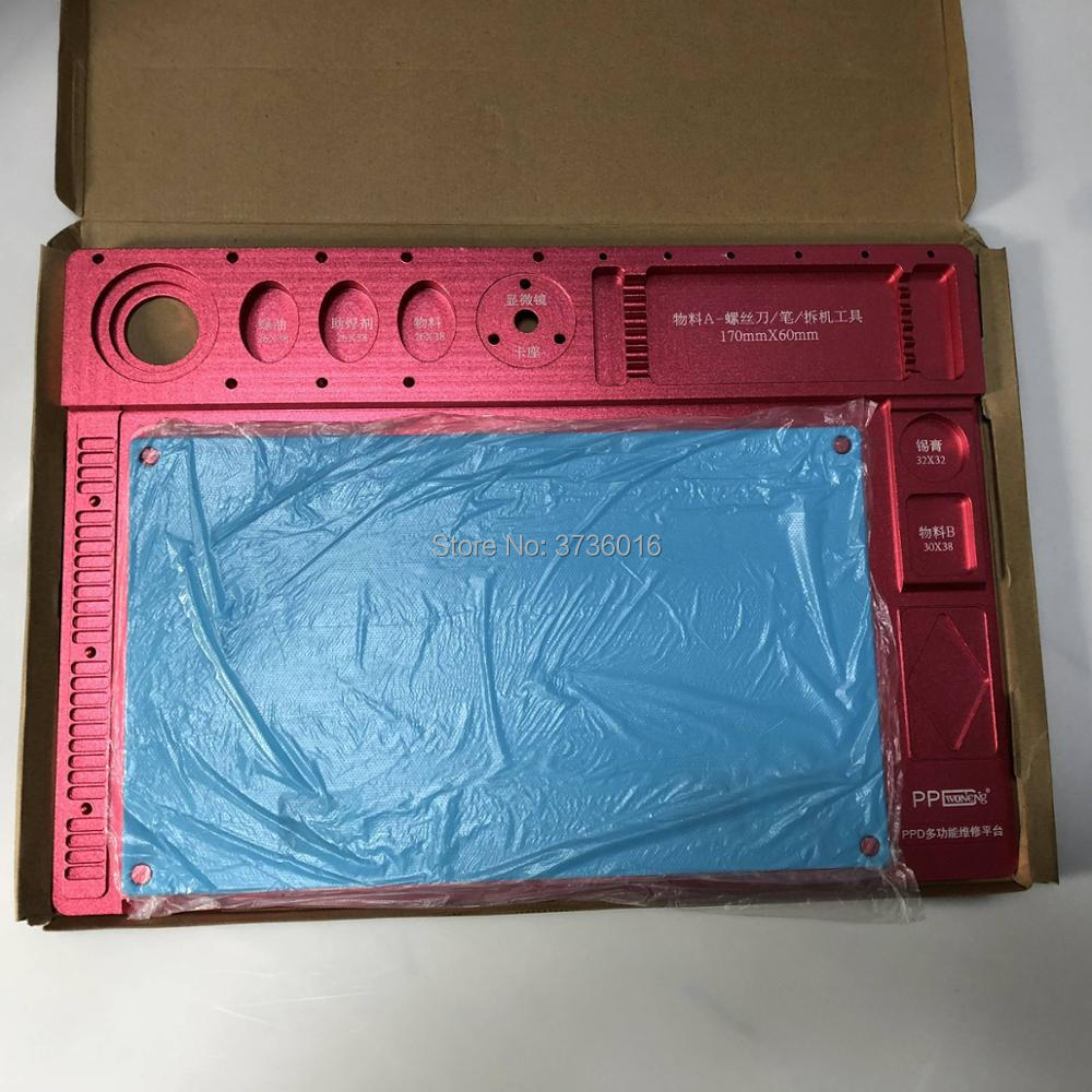 Plaques de service en métal plaque de maintenance multifonctionnelle pour téléphone portable mettre divers outils de réparation pour réparer l'écran LCD sur le tapis en caoutchouc