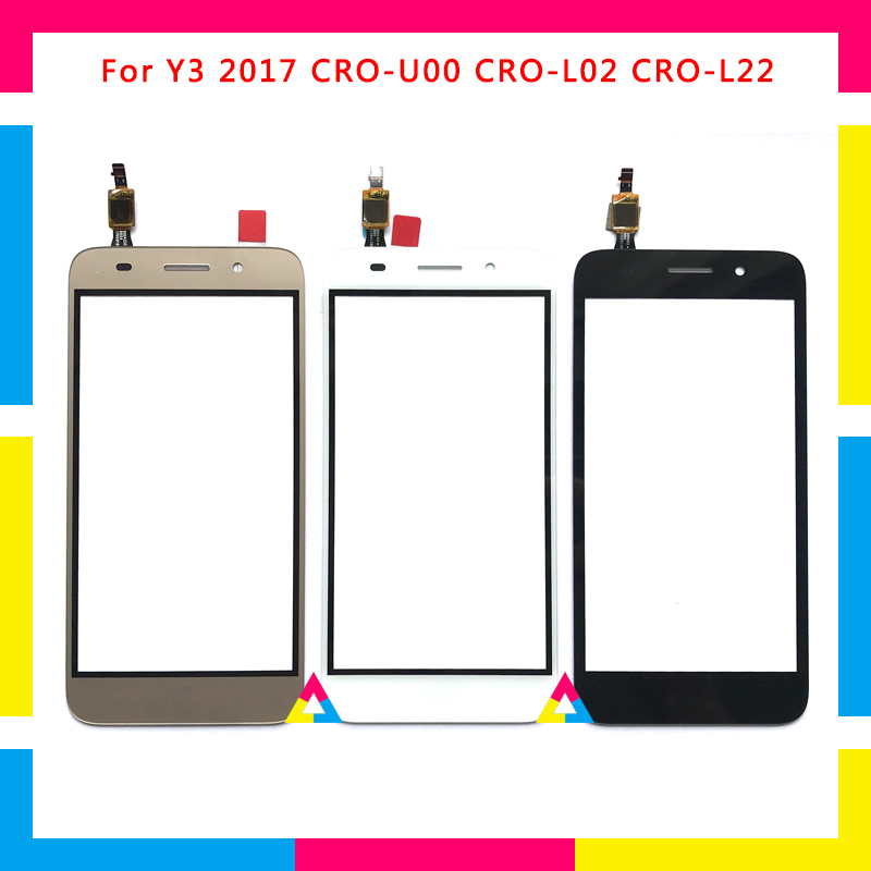 Replacement high quality Touch Screen Digitizer Sensor Outer Glass Lens Panel For Huawei Y3 2017 CRO-U00 CRO-L02 CRO-L22Replacement high quality Touch Screen Digitizer Sensor Outer Glass Lens Panel For Huawei Y3 2017 CRO-U00 CRO-L02 CRO-L22
