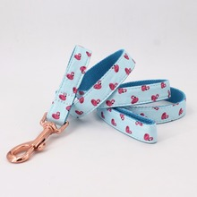 Flamingo Dog Collar, Bow Tie and Leash