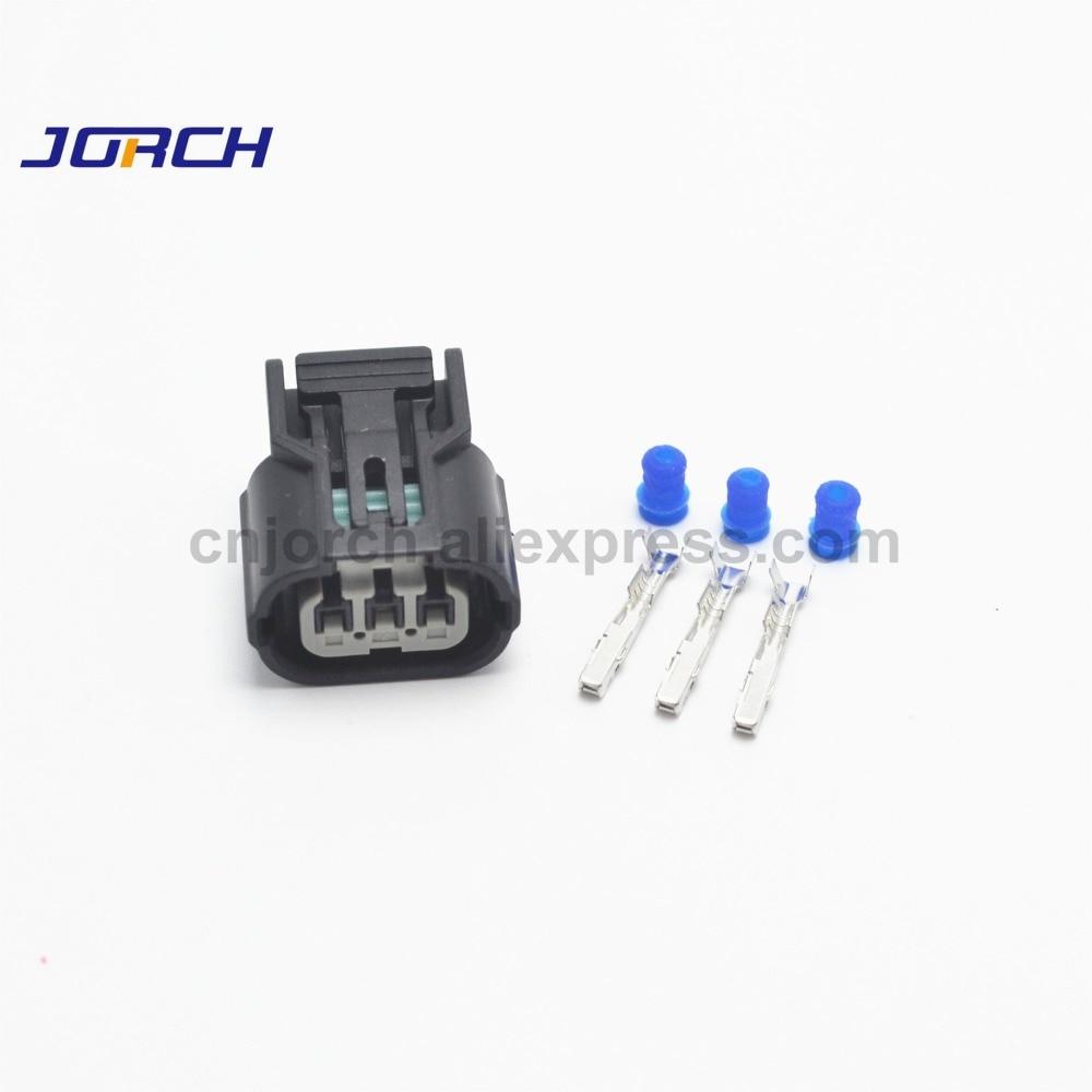10sets Sumitomo 3pin Waterproof Car Plug Genuine Harness Repair Kit Civic Element CR-V Connector 6189-0887 For Honda Acura