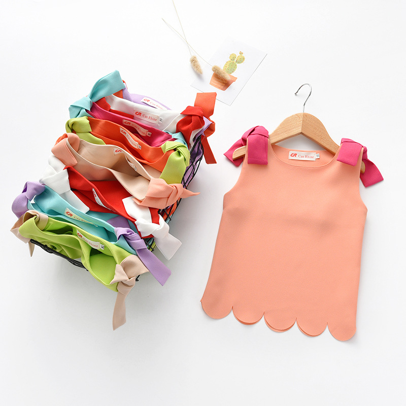 Cute T Shirt Tshirt Summer Top Sleeveless Kids Clothes Baby Girl Summer Clothes Girls T Shirt Fashion Tshirts Children Clothes