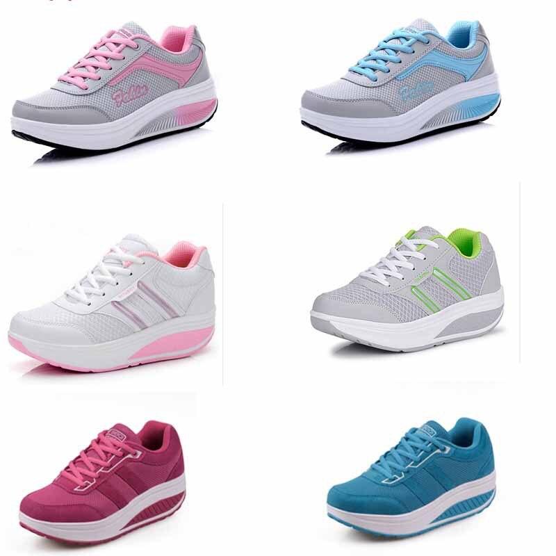 21 wanita warna sneakers sepatu wedges sepatu sepatu olahraga wanita sepatu  kasual wanita sepatu wanita berjalan pelatih platform sneakers di Pria  Sepatu ... b94a80c41f