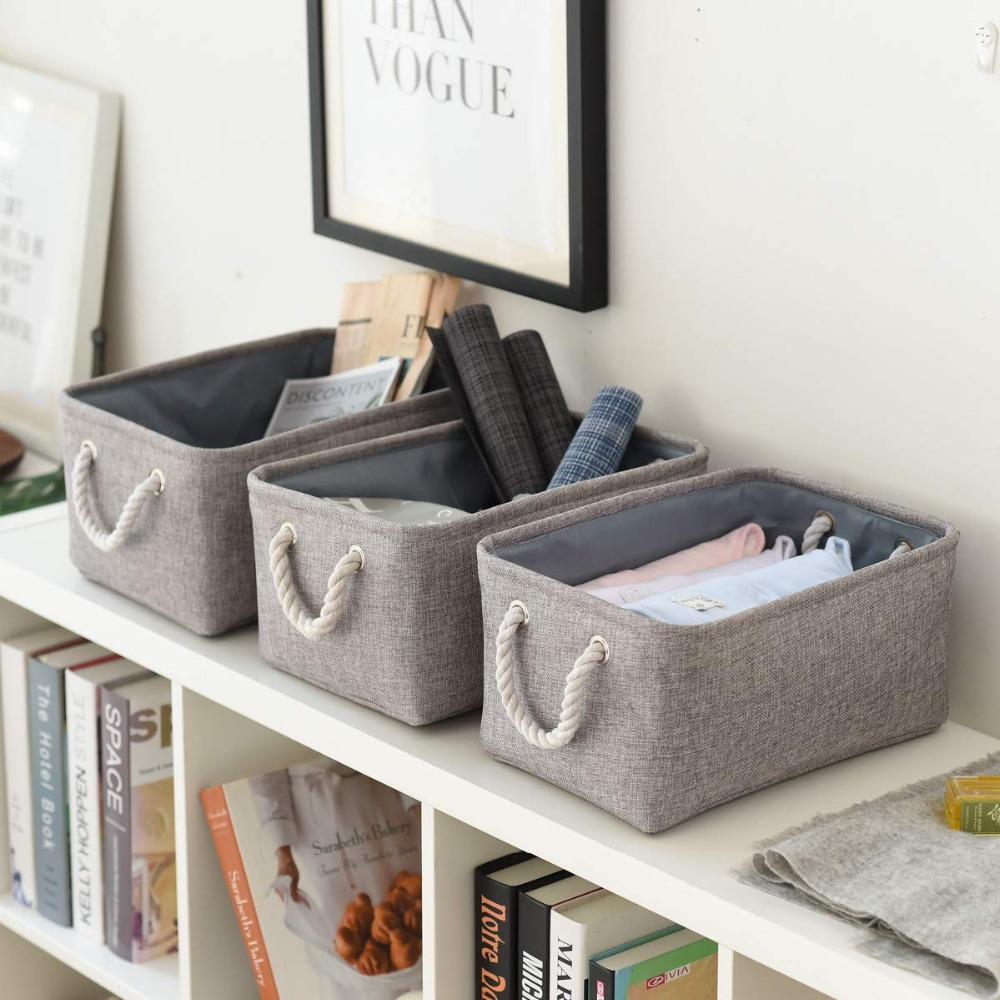 Folding Laundry Basket Toy Storage Bag Socks Underwear Organizer Bra Books Toys Storage Box Organizer Cosmetics Nursery Hamper